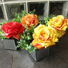 Silk flowers artificial flowers north london floralika red and yellow roses mightylinksfo