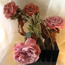 Silk flowers artificial flowers north london floralika pink silk rose mightylinksfo